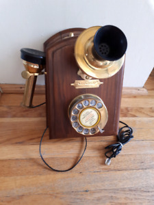 Antique Reproduction Wall Telephone