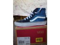 Vans trainers SK8-HI shoes navy blue high top