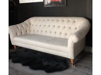 This beautiful light grey sofa, with soft wool fabric cover. £500