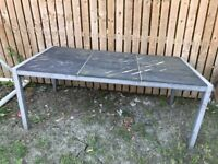 Garden table with slate top (with optional chairs)