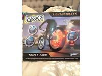 Meon triple pack bicycle wheel lights