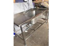Catering sink stainless steel