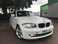 2010 Bmw 1 series 116i sport manual, excellent condition, 42000m, white