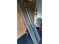 "Pair 6"" Steel Loading Ramps Quad Mower Plant Trailer 1000lb capacity"