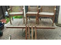 hard wood 8 seater garden table chairs