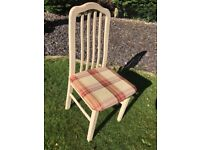 chairs vintage pale pink - set of 4