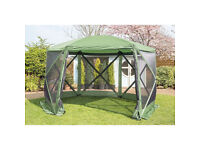 BRAND NEW BOXED Spring Up Instant quick pop up (with 6 side panels) Summer House Gazebo like Quest