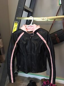 womens leather motorcycle jacket size Small