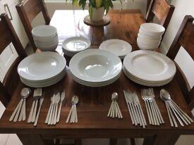 Assorted Cutlery and Crockery - Ideal Starter Set