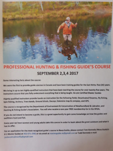 Hunting and fishing Guides Course