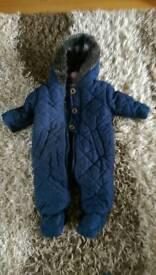 Blue snow suit