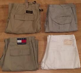 4 pairs of brand new men's designer trousers. Calvin Klein, Tommy Hilfiger, Ralph Lauren, DKNY