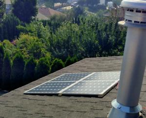 4x50w 200w solar array