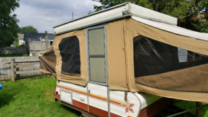 Trades trailer and canoe