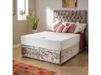 Brand New Springless Orthopaedic Windsor Divan Bed Also Available Mattress Only All sizes available