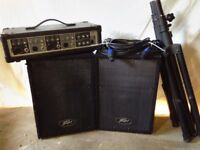 Peavey mixer/amplifier outfit