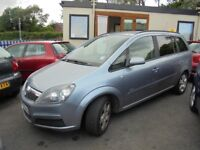 VAUXHALL ZAFIRA 1598cc CLUB 7 SEATER MPV 2007-07, LOOK ONLY 101K FROM NEW