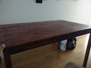 Cherry stained pine desk