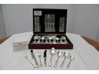 Once Used Arthur Price Of England Cutlery Ritz 25 Year Silver Plate 58 Piece Canteen for 8 People