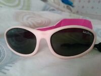 Idol Eyes pink baby girl sunglasses with soft velcro strap