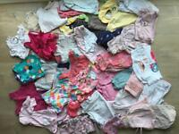 Baby girls clothes bundle (0-9 months approx)