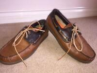 Max Men's Leather Boat Shoes Size 8