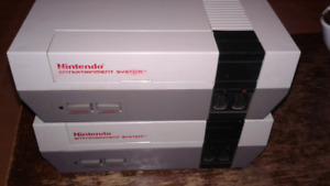 2 NES Consoles only.  Trade for Mario Kart games