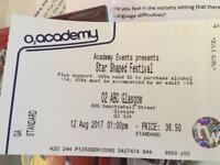 Star Shaped Britpop festival ticket Glasgow ABC Sat12th Aug