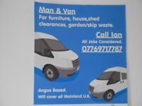 man and van, arbroath, montrose, brechin, forfar,dundee and all uk