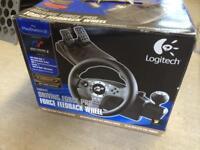 Logitech driving wheel & pedals