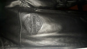 Leather Harley Davidson Riding Coat
