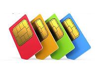 SIM card (golden number)