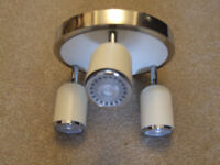 three light ceiling light, with 3 g10 long life and low power usage