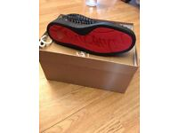 Mens UK Size 8 Christian Louboutin Louis Spikes Flat Python Black