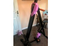 Ancheer Vertical Climber Folding Exercise Fitness Climbing Machine, Exercise Bike Body Trainer