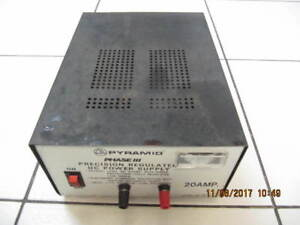 VintagePyramidPhase III Precision DC PowerSupplyModel PS-20 1985
