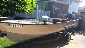 16.5 ft Aluminum Boat Motor Trailer