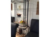 Glass and metal display unit for sale