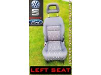 LEFT CAR SEAT AND REPLACEMENT SEAT VW FORD ALHAMBRA SHARAN GALAXY REAR MIDDLE ROW GREAT REMOVEABLE