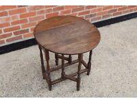 Oak gate leg dining table