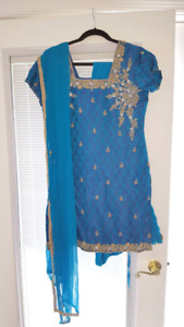 Blue indian outfit