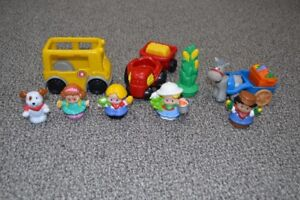 Little People train, farm and school bus