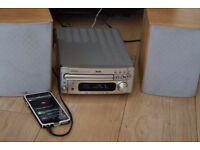 DENON 100W DAB RADIO AUX IN PLAY IPOD PHONE CAN BE SEEN WORKING