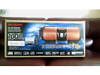 SHARP 100W Big Bass BOOMBOX (MP3/iPod/iPhone/Guitar/Mic/CD/USB/AUX)