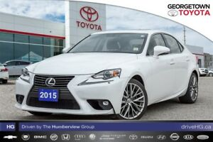 2015 Lexus IS 250 AWD low kilometers car proof clean!