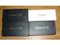 Job lot (4) iPhone 3GS and iPhone 5 Boxes