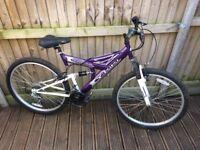 Ladies universal y kiki mountain bike purple Full Suspension