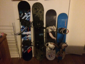 Snowboards/ bindings/ boots