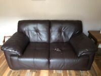 FREE 2 & 3 seater, faux leather sofas - slightly damaged