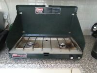 Coleman Camping Stove with 2 burners and Case